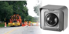 作業状況が確認できるように道路工事作業現場にカメラを設置した事例