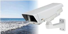 沿岸部の水量などを確認するためにカメラを設置した事例