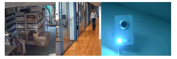 IP66防水テストを毎分100リットル当てたイメージ、IR LED照射を0.01lxの明るさで利用したイメージ