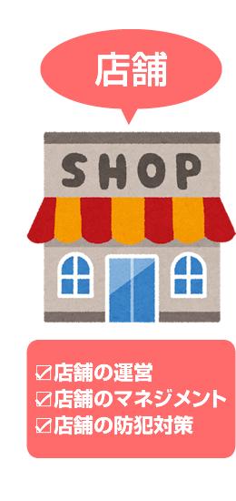 店舗の運営・マネジメントや防犯対策