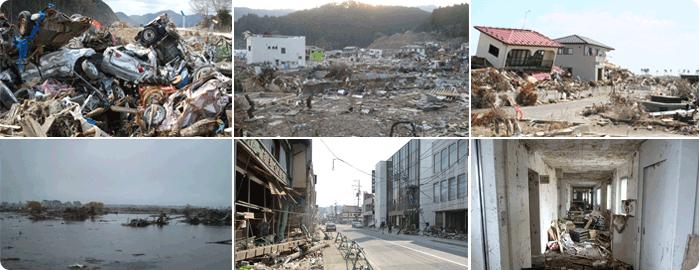 津波被害の写真
