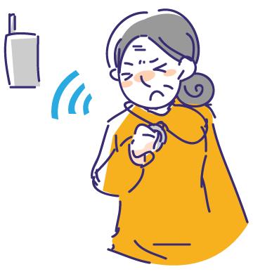 いつでも呼べるペンダント型無線呼出しボタン