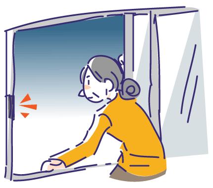 徘徊対策に窓センサー