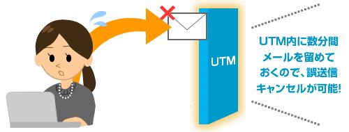 メール誤送信防止機能