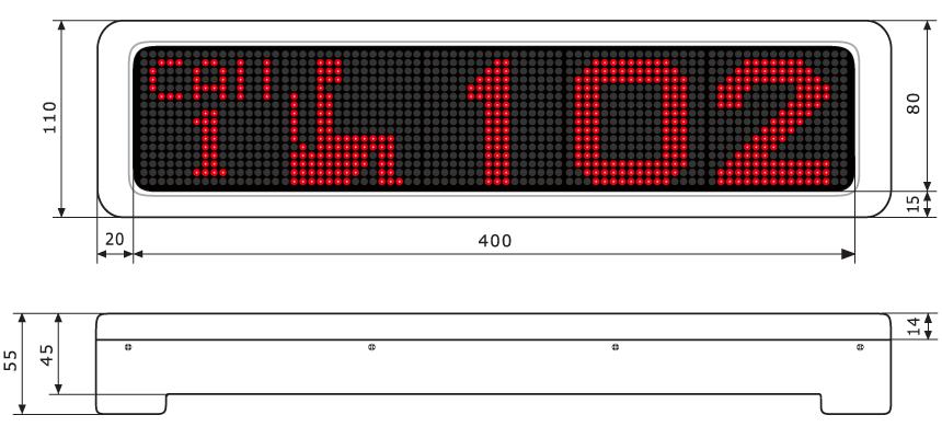 大型LED表示器に呼び出し表示