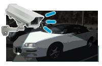 駐車スペースや出入口、建物裏の防犯対策なら屋外型ネットワークカメラ。更に光量が不足しがちな場所には暗視機能のあるカメラなどが有効です。