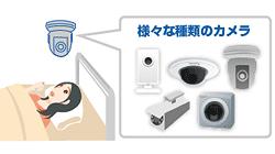 様々な種類のカメラを選べる