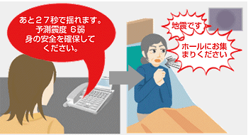 緊急地震速報と館内放送を連携させられます