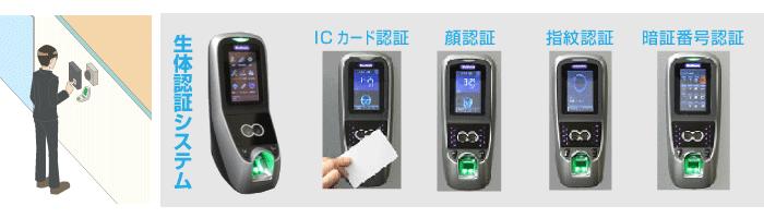 生体認証システムの入退室制御のイメージ