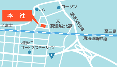 沼津営業所の地図